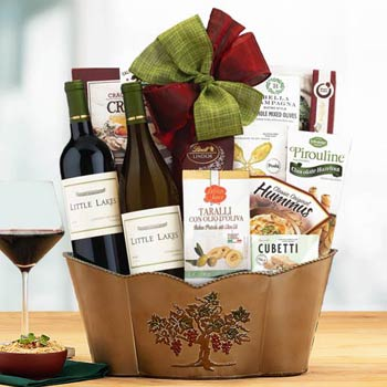 Thank You Wine Gift Basket