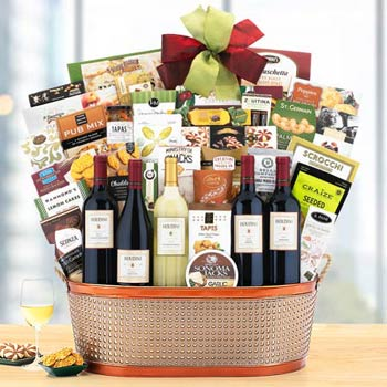 Deluxe Office Party Wine Basket