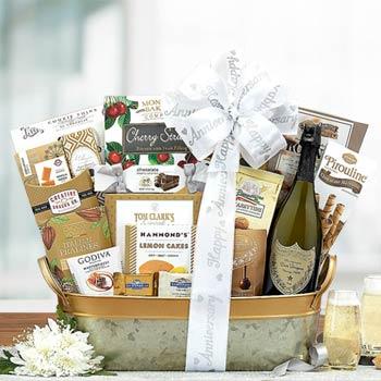 Dom Perignon Anniversary Basket