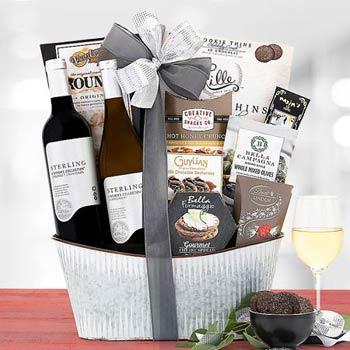 Elegant Gourmet Wine Basket