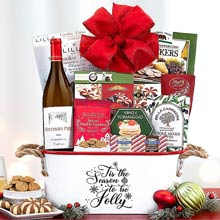 Christmas Wine Gift Basket