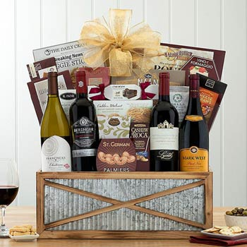 Red and White Wine Quartet Basket