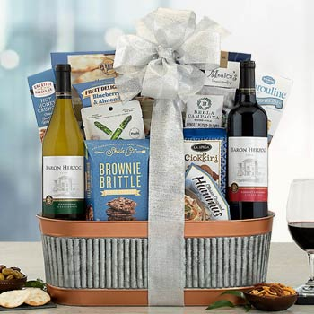 Corporate Kosher Wine Gift Basket