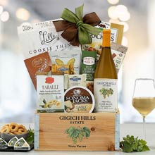 Corporate White Wine Gift Basket
