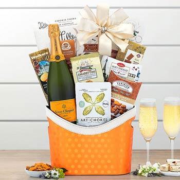 Veuve Clicquot Champagne Basket