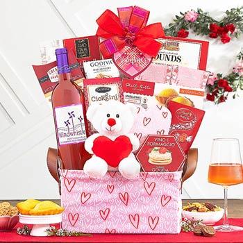 Romantic Wine Basket