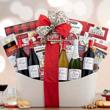 Executive Christmas Wine Gift Basket