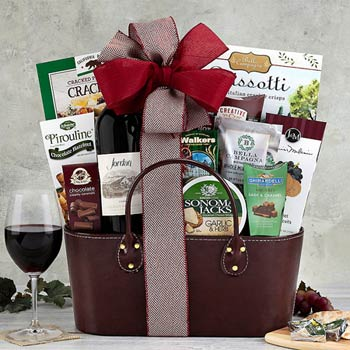Classic Gourmet Wine Gift Basket