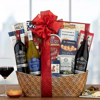 Corporate Christmas Wine Gift Basket