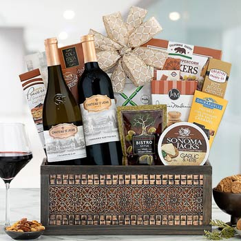 Corporate Gourmet Holiday Wine Basket