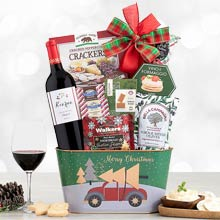Christmas Cheer Wine Gift Basket