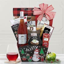 Christmas Holiday Corporate Wine Basket