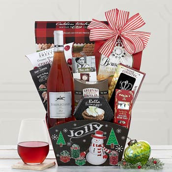 Christmas Holiday Corporate Wine Basket