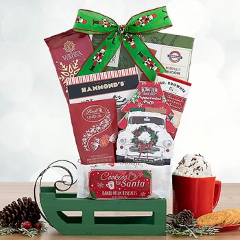 Christmas Sleigh Gift Basket