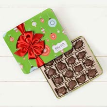 Ethel M Holiday Chocolate Pecan Caramel Tin
