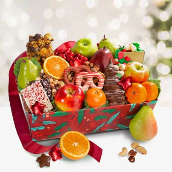 Deluxe Fruit Christmas Basket
