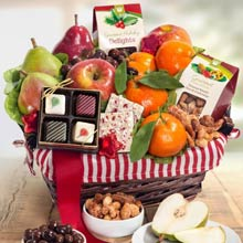 Holiday Snack Fruit Gift Basket