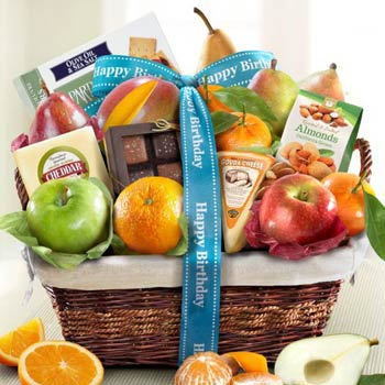 Birthday Gourmet Fruit Basket