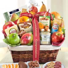 Congratulations Gourmet Fruit Gift Basket