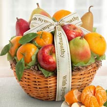 With Sympathy Fruit Gift Basket