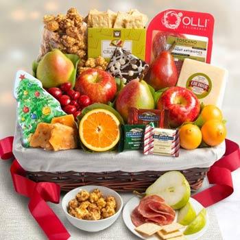 Holiday Fruit Gift Basket