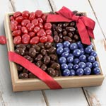 Chocolate Nut and Fruit Gift Tray