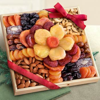 Dried Fruit Floral Gift Tray