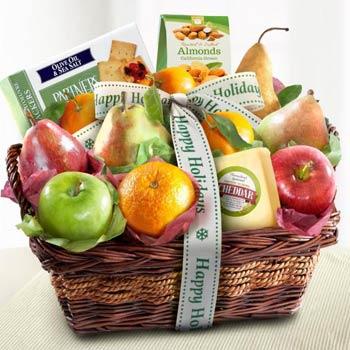Happy Holidays Fruit Basket