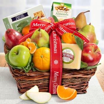 Merry Christmas Fruit Basket