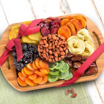 Dried Fruit & Nuts Cutting Board