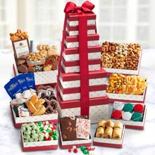 Holiday Snack Gift Tower