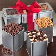 Holiday Nut & Sweets Trio Gift Box