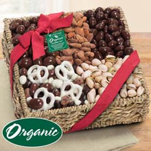 Organic Chocolate Nut Basket