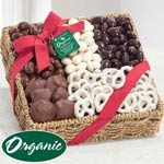 Organic Chocolate and Nut Basket