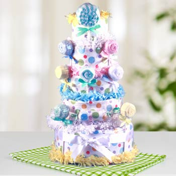 Baby Lollipop Diaper Cake