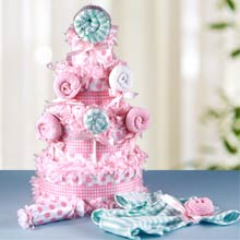 Baby Girl Lollipop Diaper Cake