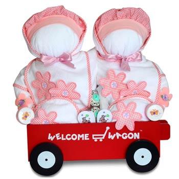 Twin Girls Gift Basket