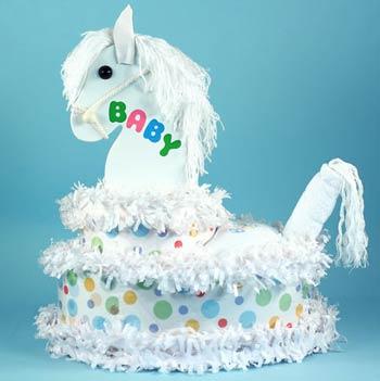 Baby Pony Diaper Cake