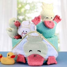 Ducky Bath Diaper Cake