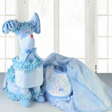Puppy Diaper Cake for Baby Boy