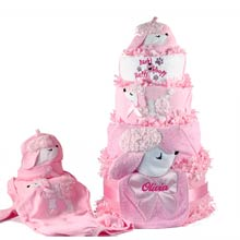 Baby Girl Puppy Diaper Gift