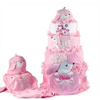 Baby Girl Puppy Diaper Gift