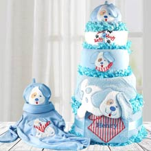 Baby Boy Puppy Diaper Gift