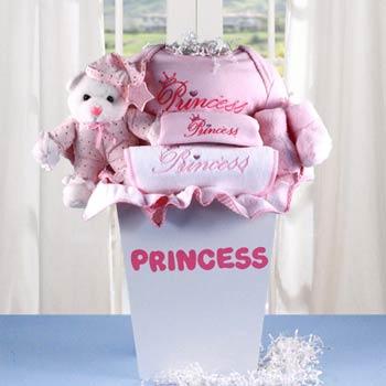 Baby Girl Princess Gift Basket