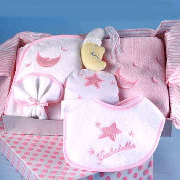 Sleepy Time Baby Girl Gift Box