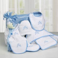 Monogrammed Baby Layette Gift Box
