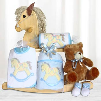 Baby Boy Rocking Horse Gift