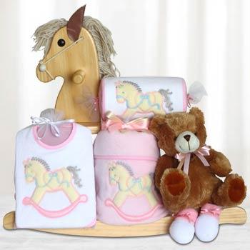 Baby Girl Rocking Horse Gift