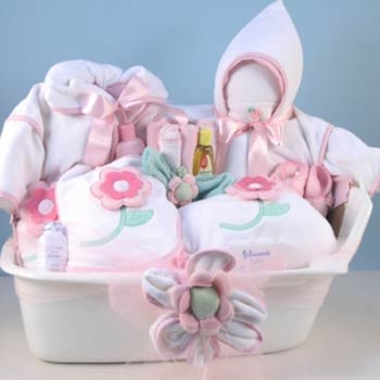 Baby Girl Spa Basket
