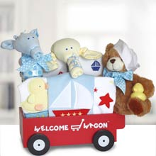 Baby Boy Keepsake Wagon